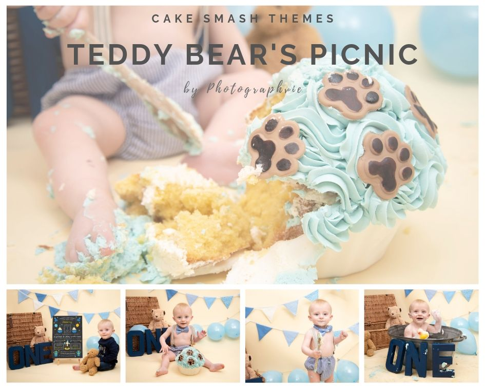 Teddy Bears Picnic Cake Smash Photoshoot