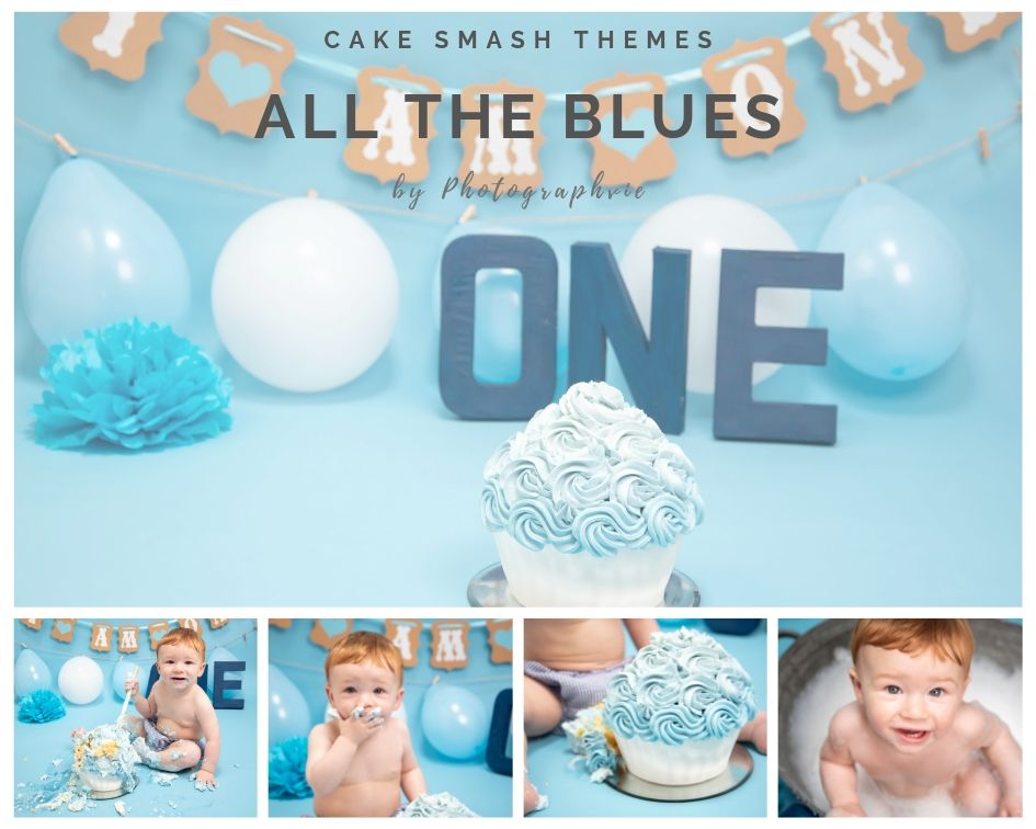 Blue Cake Smash Photoshoot