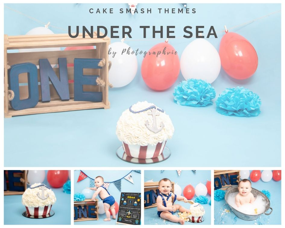 Under the Sea Cake Smash Photoshoot