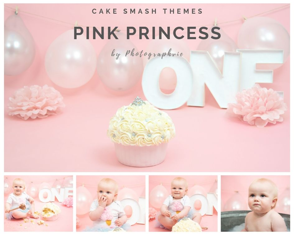 Pink Princess Cake Smash Photoshoot