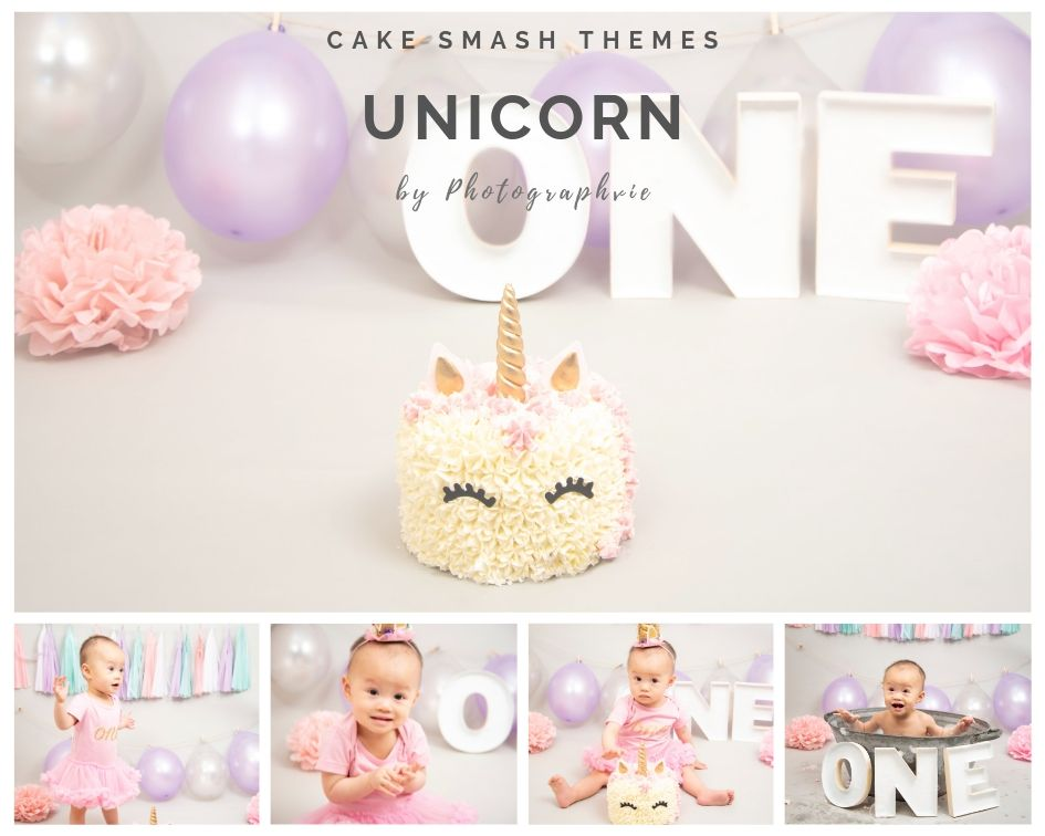 Unicorn Cake Smash Photoshoot
