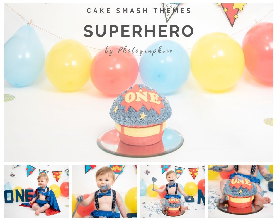 Superhero Cake Smash Photoshoot