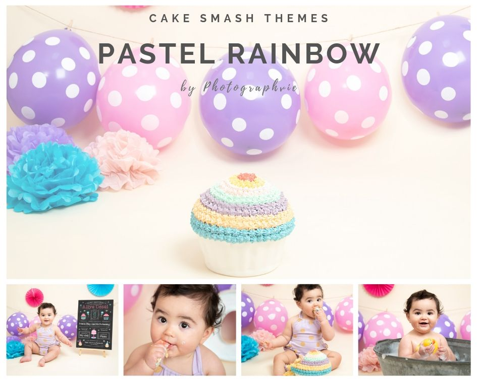 Rainbow Cake Smash Photoshoot