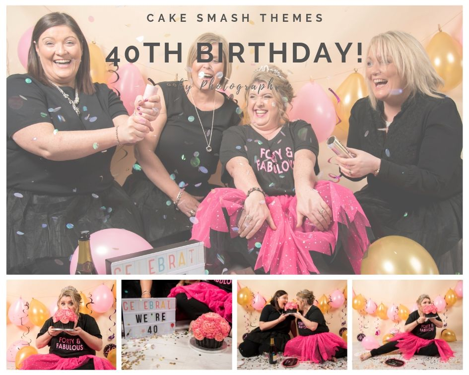40th Birthday Cake Smash Photoshoot