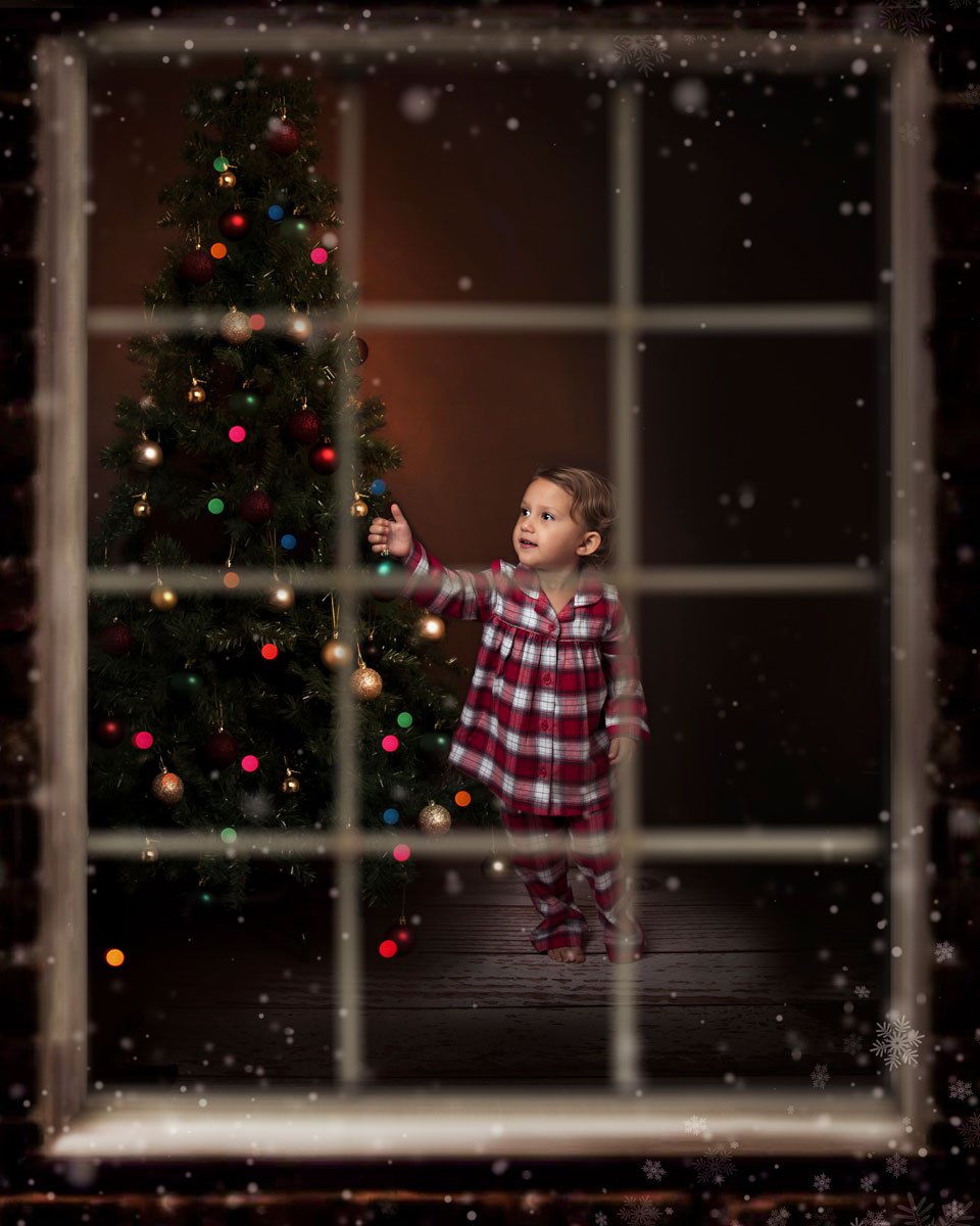 seasonal christmas photoshoot waiting for santa decorating the xmas tree cards personalised baby photography ely studio newborn cake smash family cambridge photographer near me (216).jpg