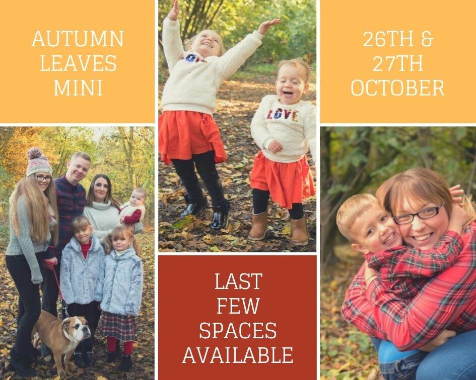 Last few spaces for our popular Autumn Mini Session