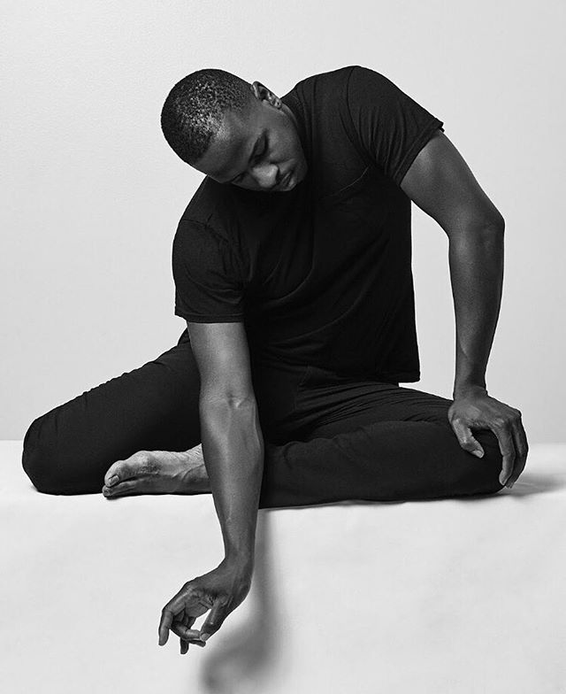 """Have you met MMDC dancer Isaac Owens @isaaqowenz? With MMDC for six years, Isaac is fiercely intelligent and driven, has an incredibly articulate physicality, and contributes to all things musical—from DJing parties to finding the right performance piece. . Isaac says: """"MMDC is a unique meeting place of minds, hearts, and bodies.  Every one of our artists has something special to offer and I feel so fortunate to be able to call myself a part of this brilliant collective.  Everything we touch has the DNA of our team and that mark is unmistakable.  And I'm sure I speak for everyone by saying we would be honored to add your unique fingerprint to our family as well!"""" . . Contribute to Isaac and MMDC today through our Kickstarter! Link in bio! . . Photo by @benhoste . . #dancer #dance #mmdc #newyork #contemporary #dj #headshot"""