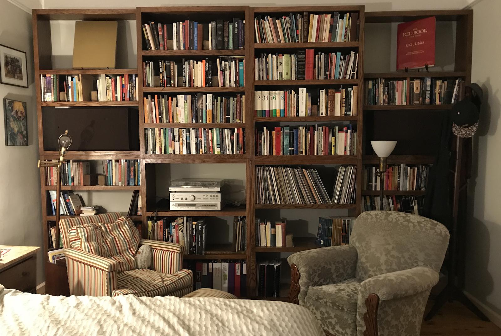 Library shelves, Brooklyn, NY