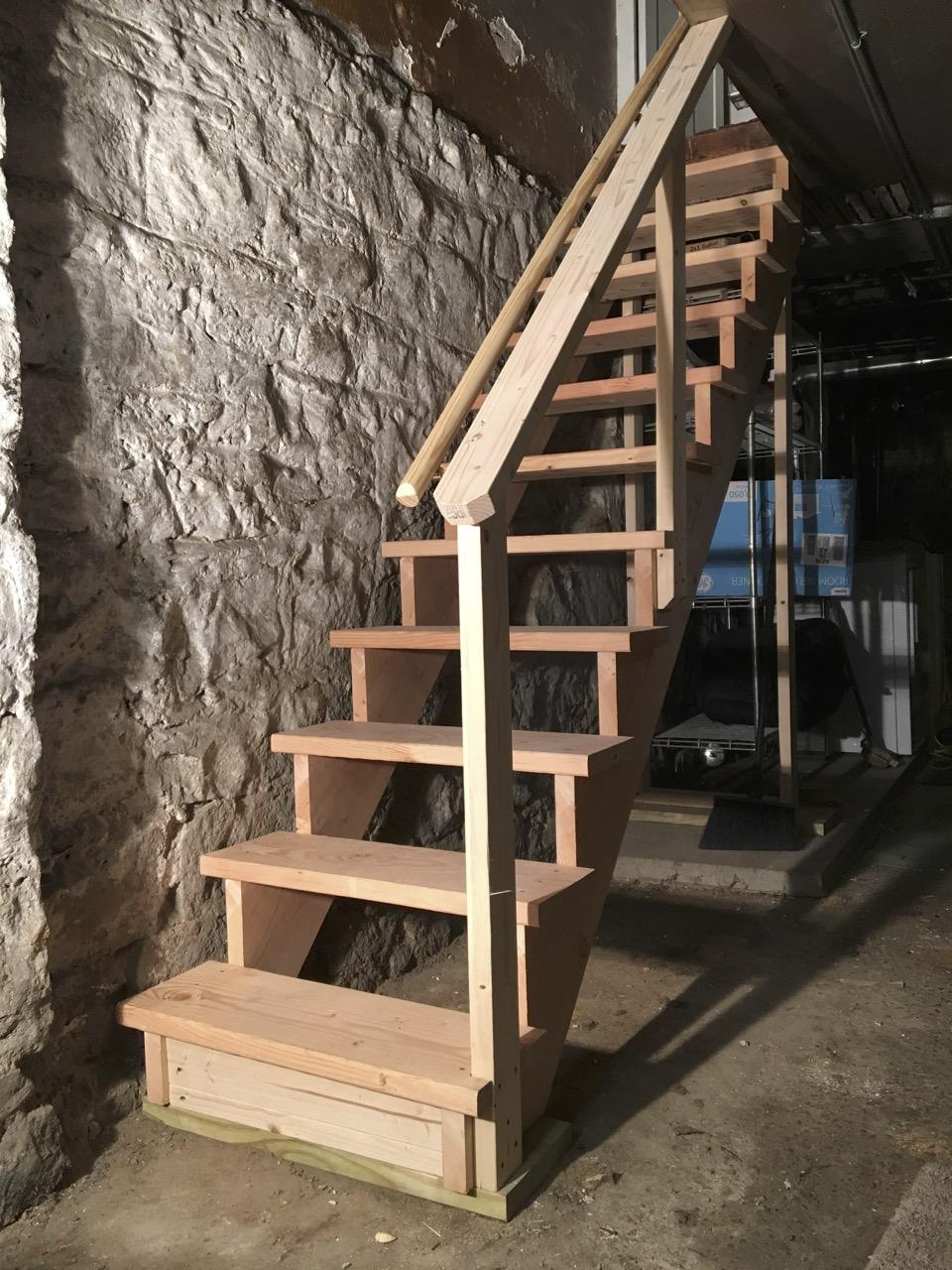 Basement stairs, Brooklyn, NY