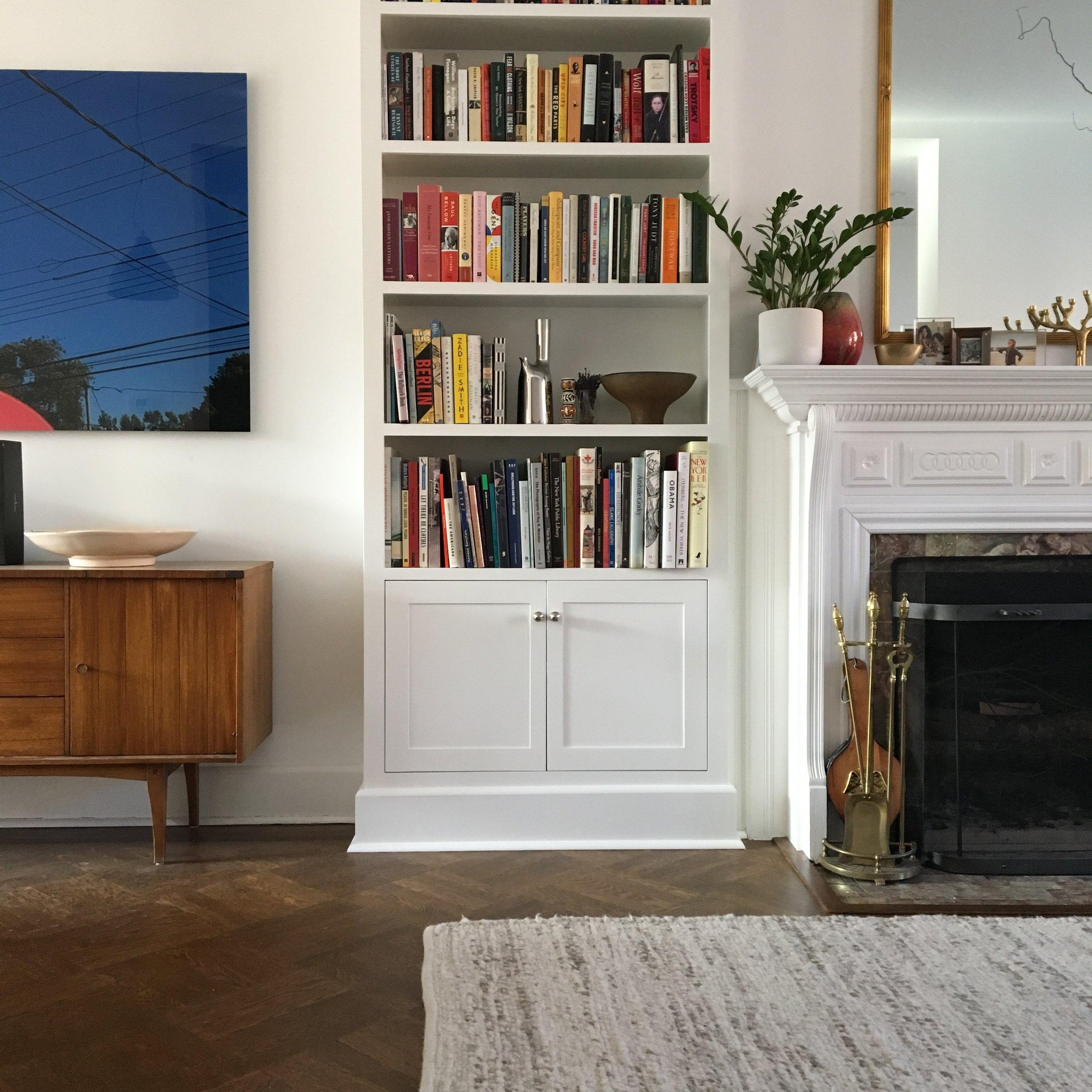 Built in Bookshelves, Bed Stuy, Brooklyn