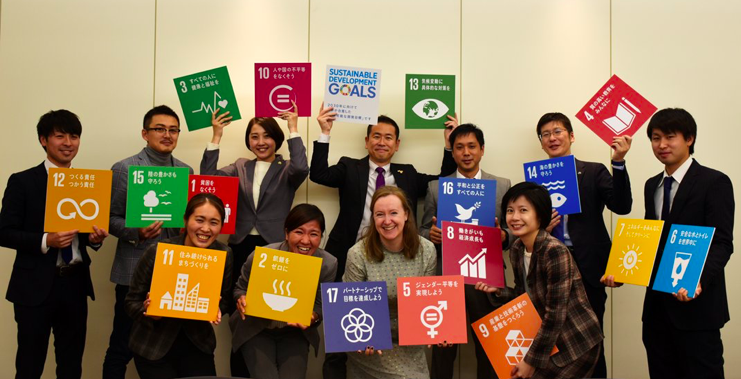 Fiona Pelham (middle) visiting Positive Impact Japan surrounding CSRshareday