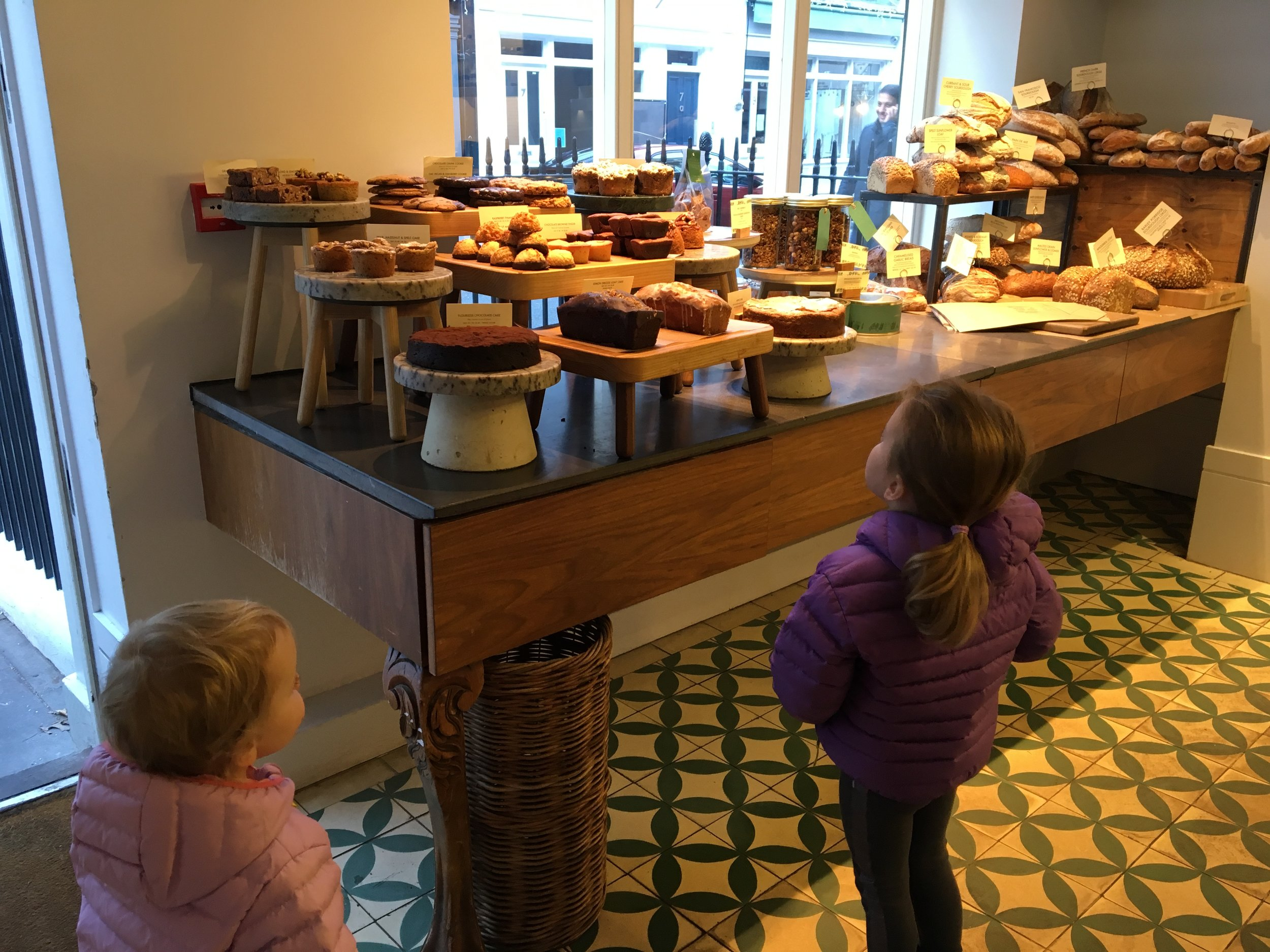 Luckily these girls had room for a few baked goods upon arrival in London.