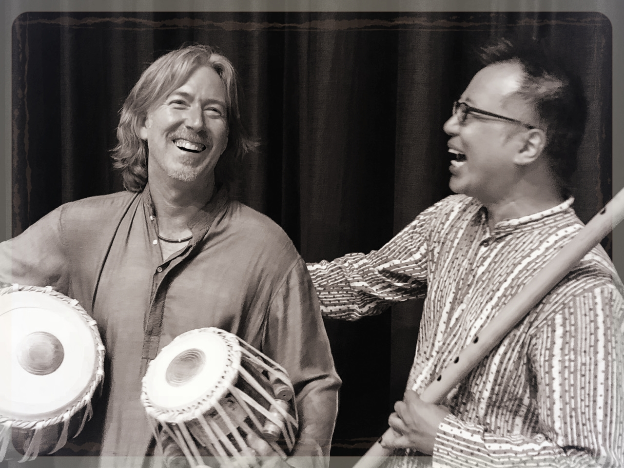Taro Terahara & Ty Burhoe after a concert at the Canyon Theater in Boulder 2018