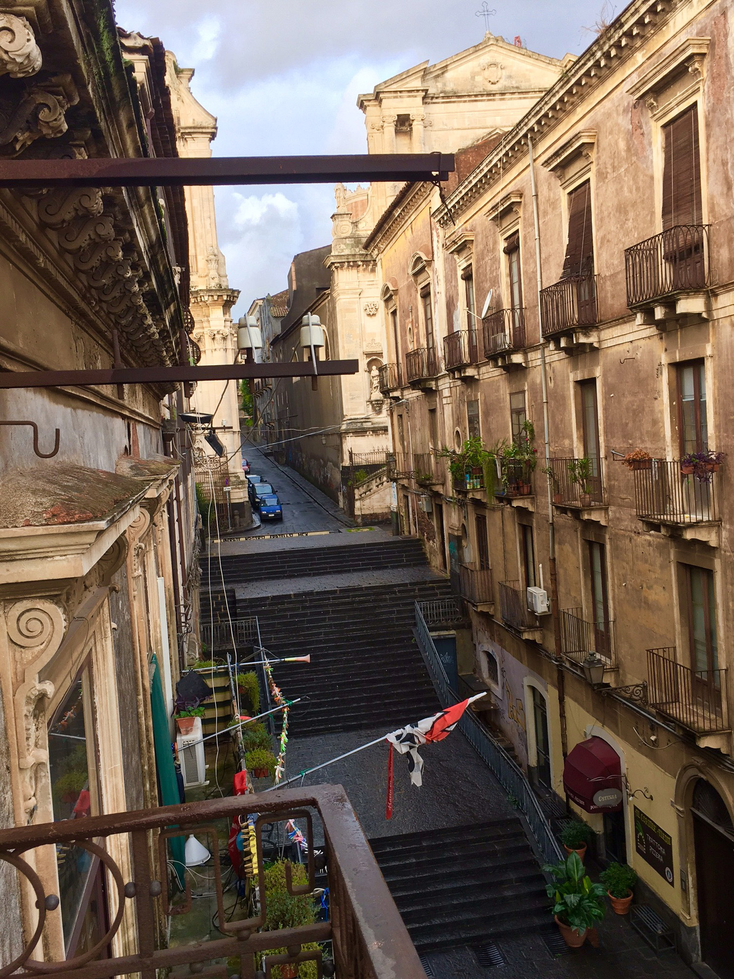 Room with a view from my balcony at Il Principe Hotel