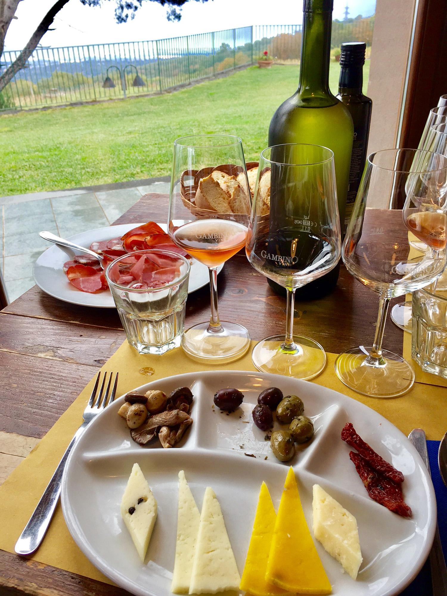 Lunch at Gambino Winery