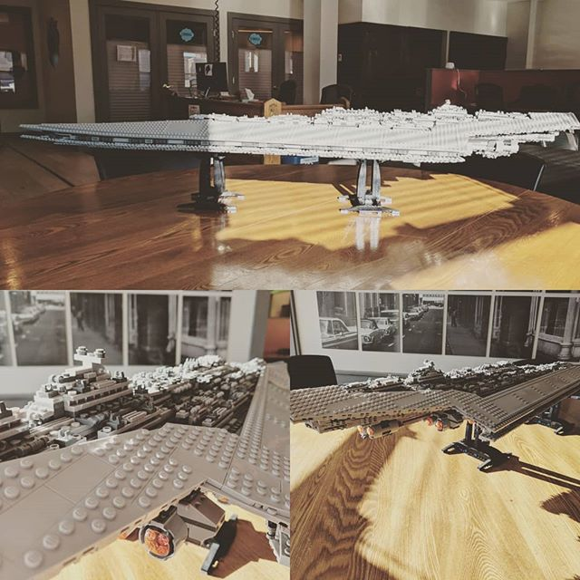 This huge Lego star destroyer was assembled by students in under 11 minutes!