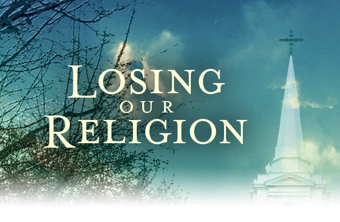 Image is the header for the Losing Our Religion website