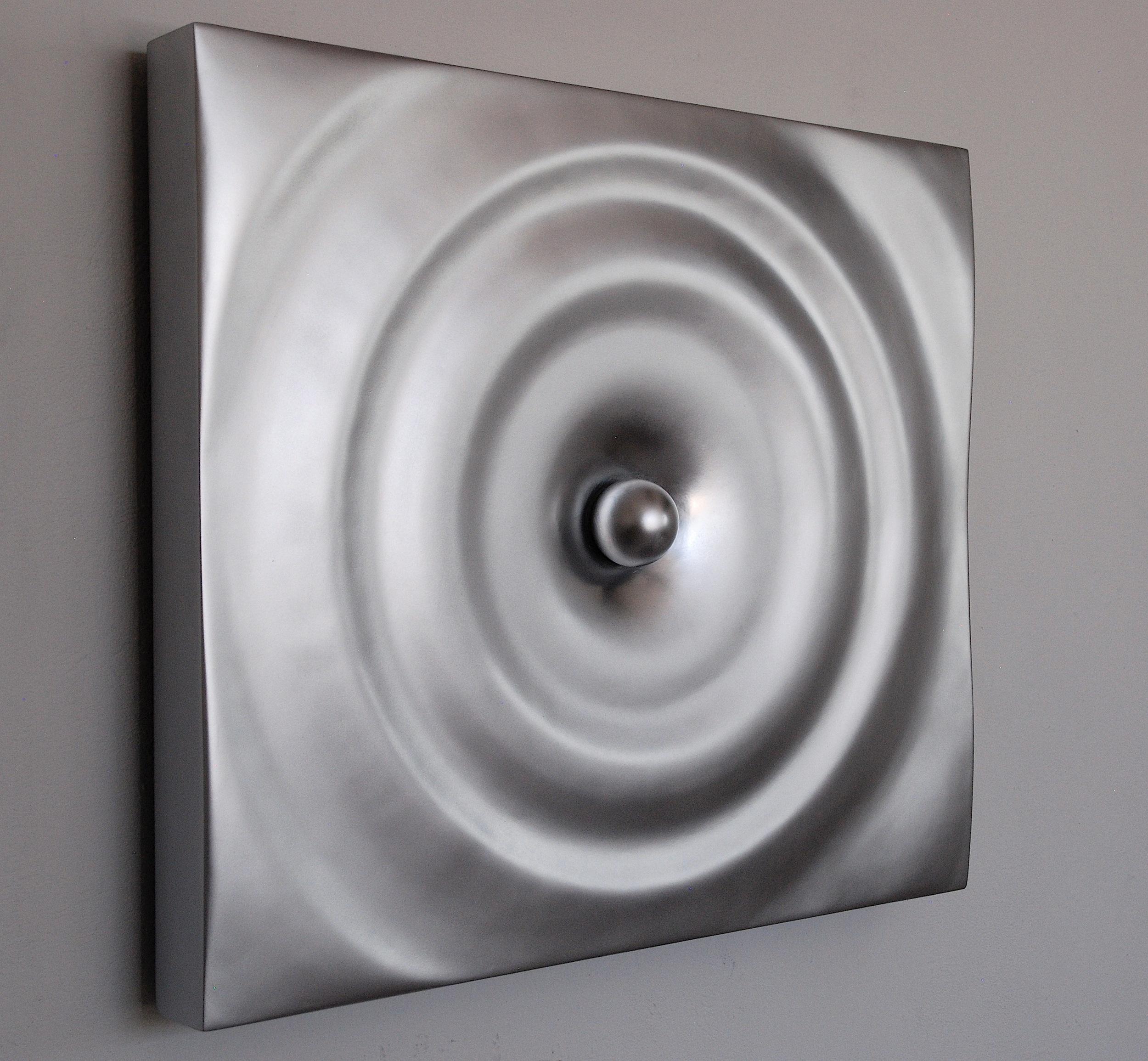 Ripple Effect (aluminum paint) - side view