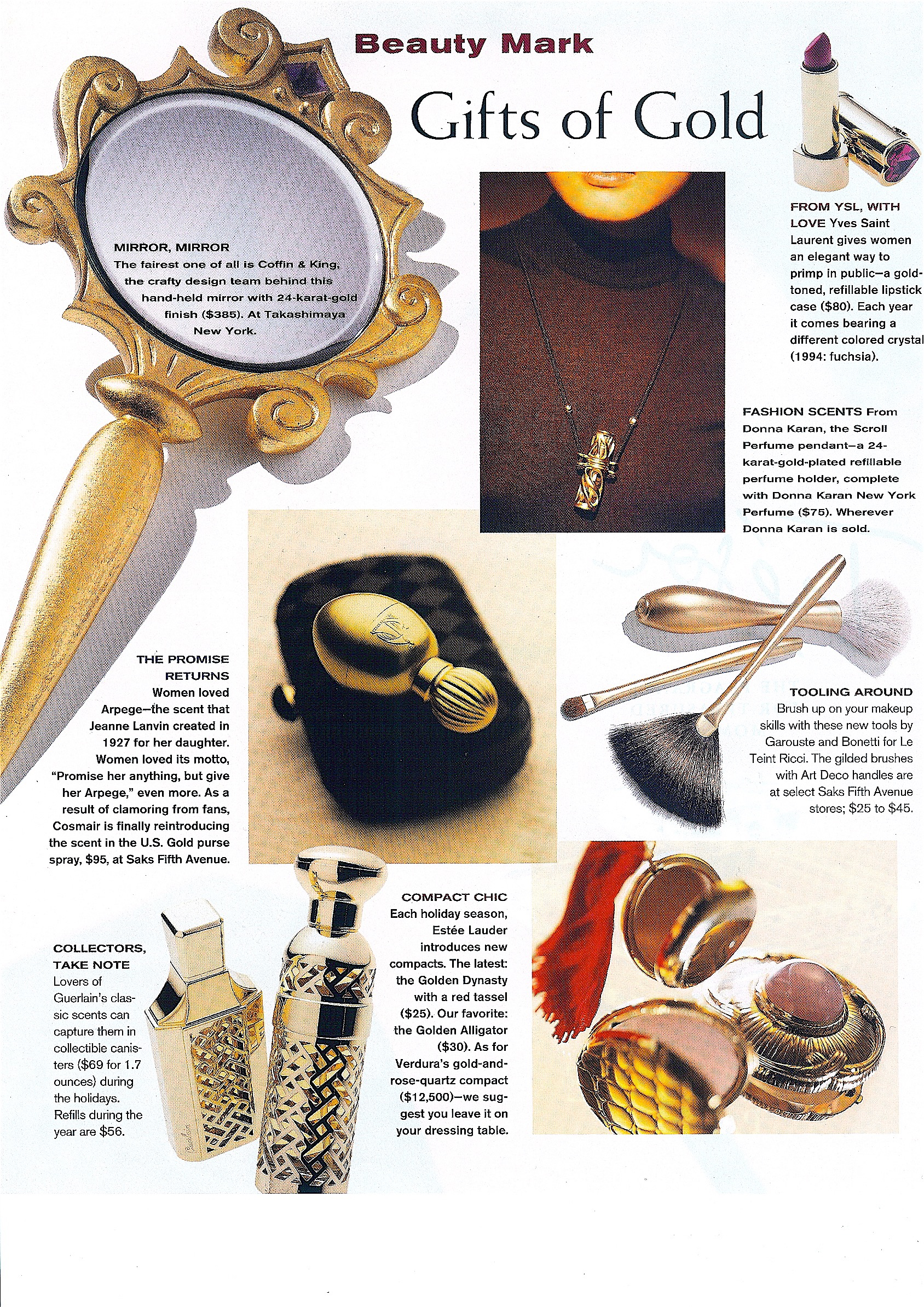 Coffin & King Press - Coffin & King Gilded Hand Mirror featured in Town & Country Magazine