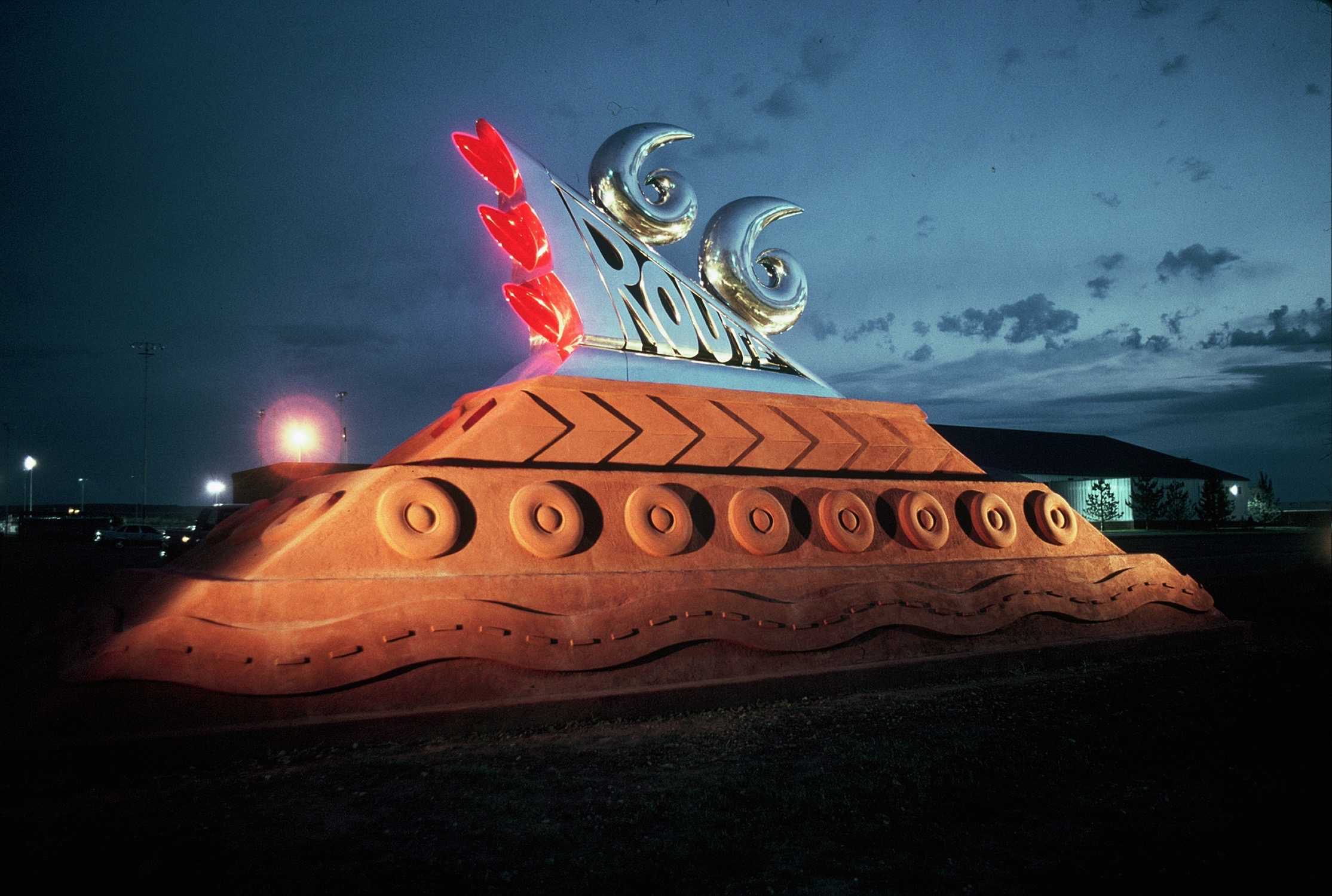 """Thomas Coffin - Route 66 Monument """"Roadside Attraction"""", New Mexico Arts Commission and New Mexico Highway Department - Tucumcari, New Mexico"""