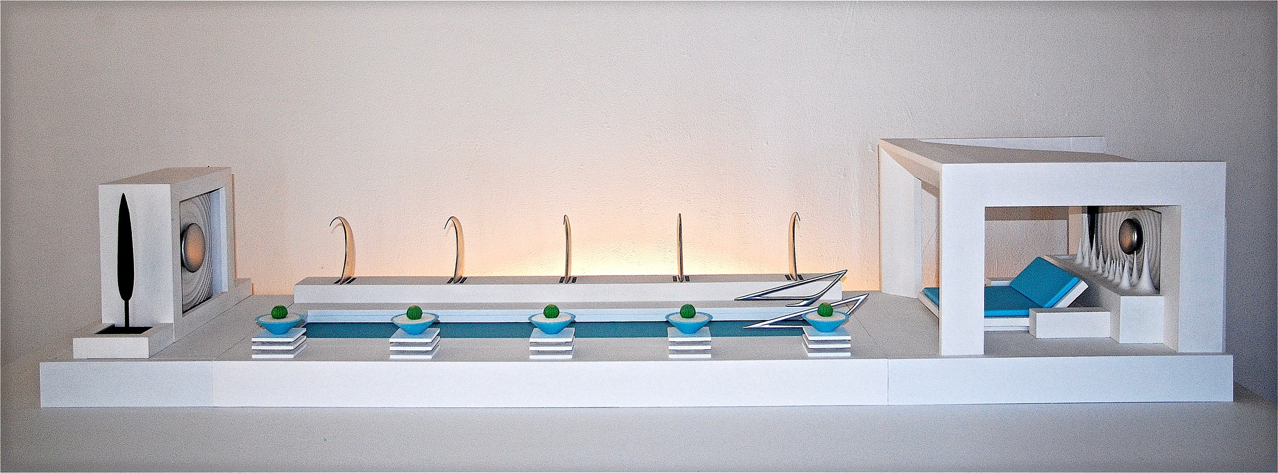 Thomas Coffin - custom pool, cabana, and fountain design model