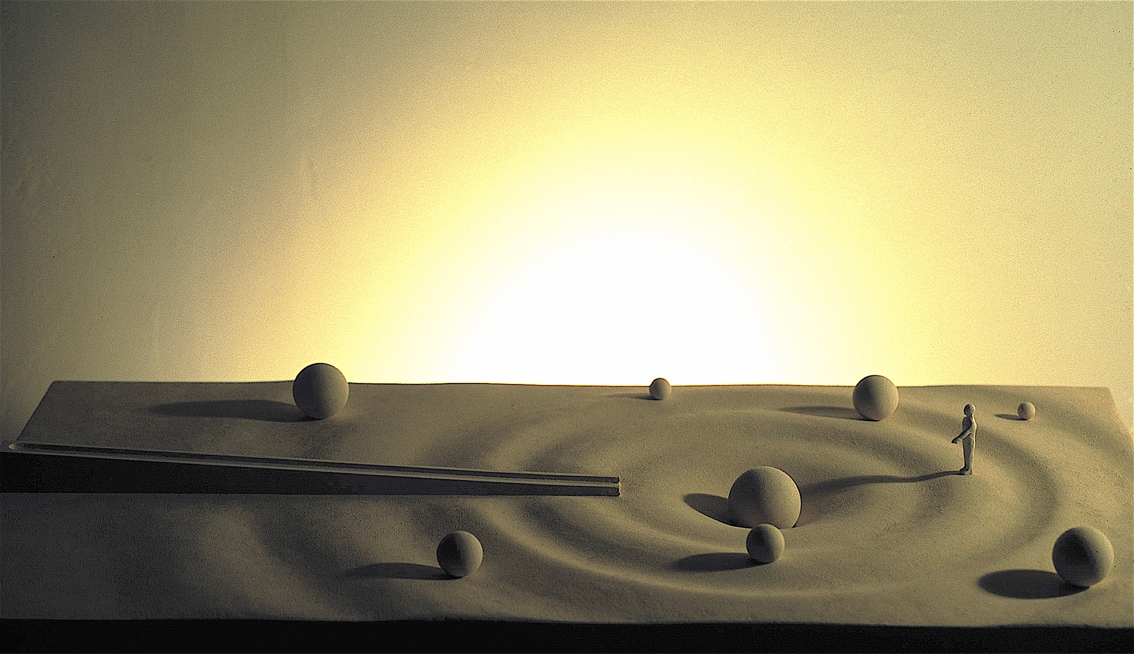 Thomas Coffin - Ripple Effect Fountain, monumental sculpture and earthworks model