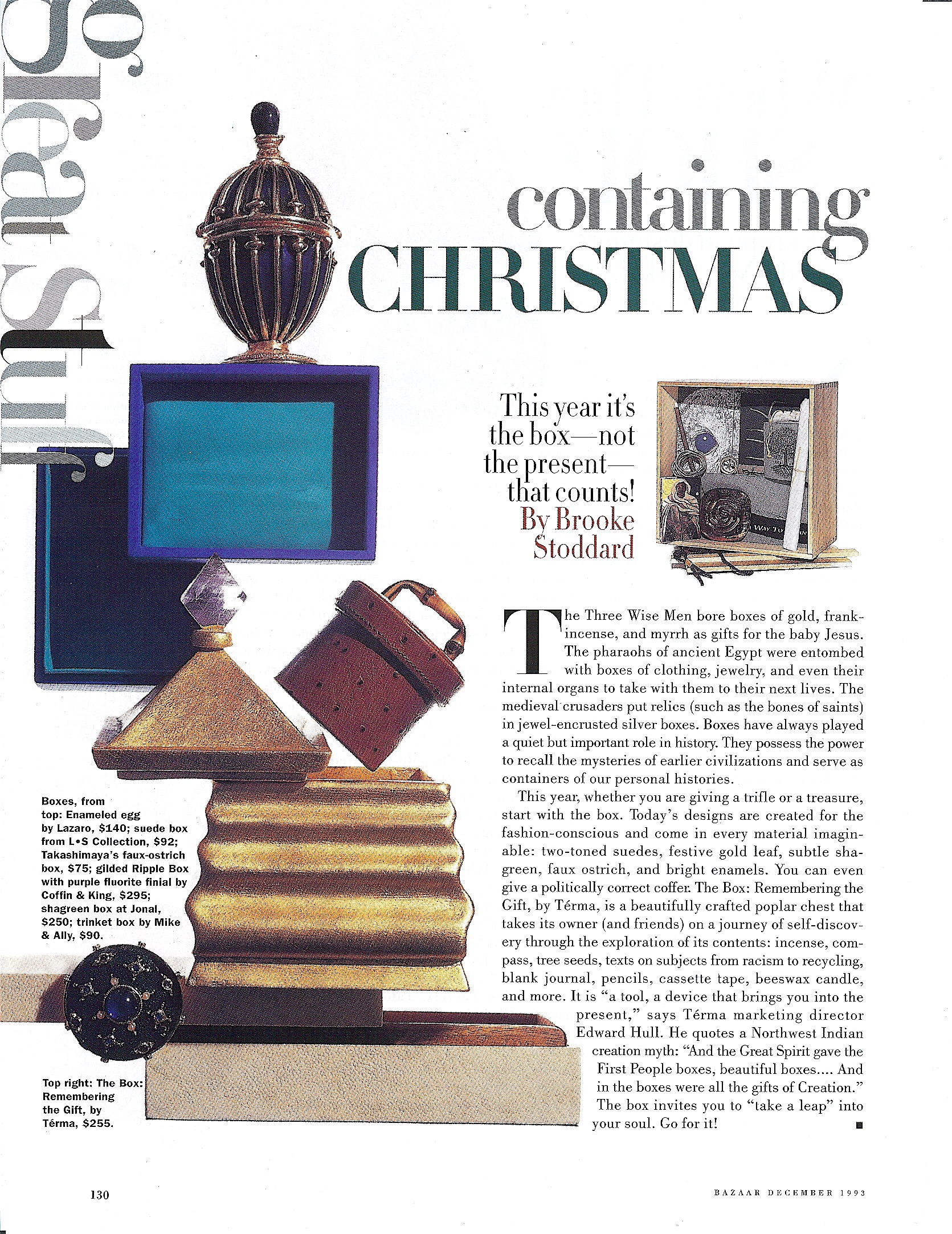Coffin & King Press - Coffin & King Gilded Ripple Box featured in Harper's Bazaar Magazine