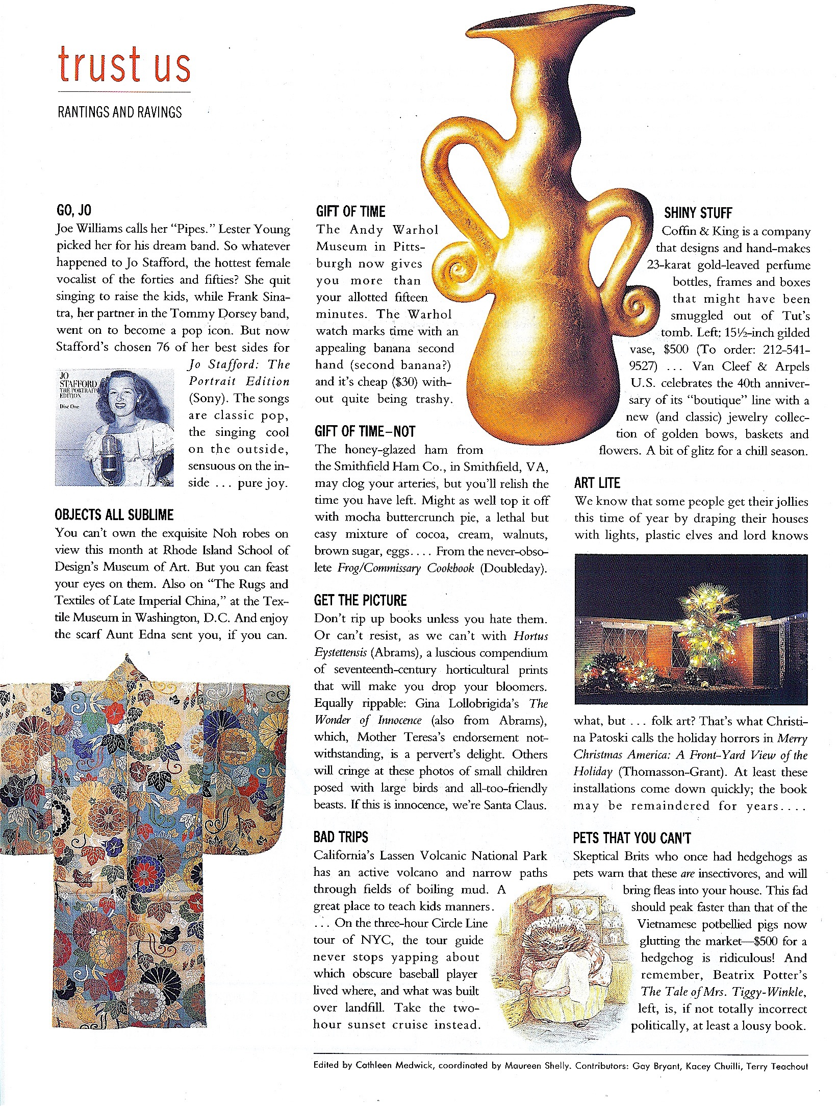 Coffin & King Press - Coffin & King Gilded Vase featured in Mirabella