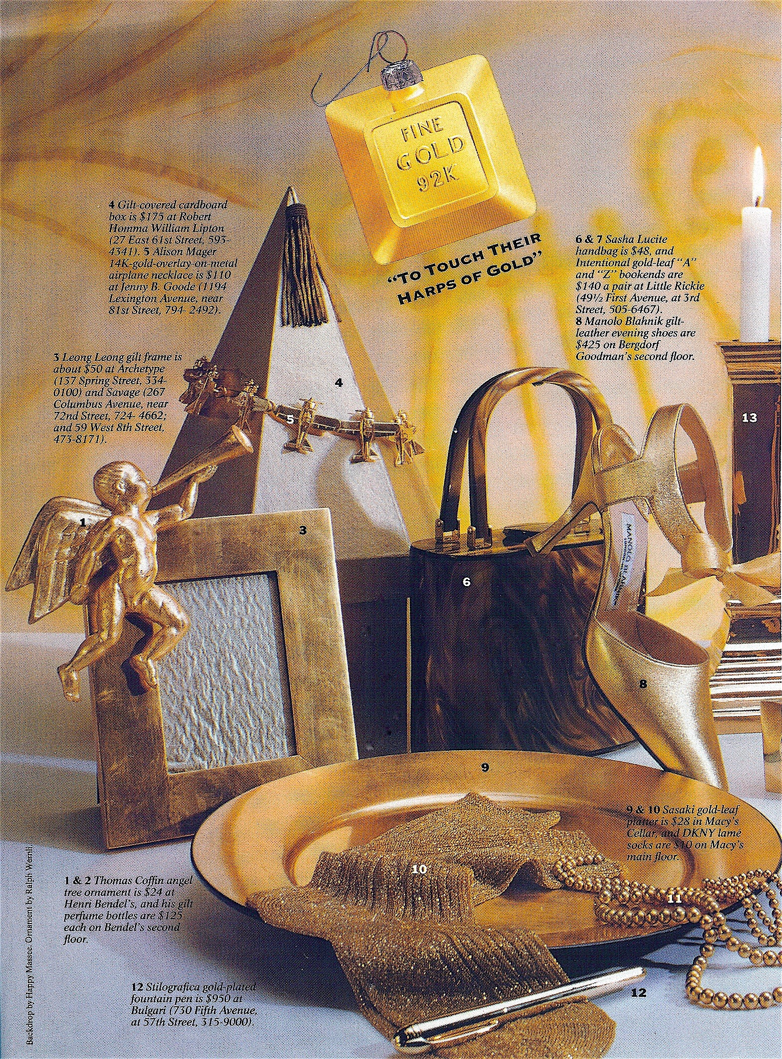 Coffin & King Press - Coffin & King Renaissance Angel Ornament featured in New York Magazine