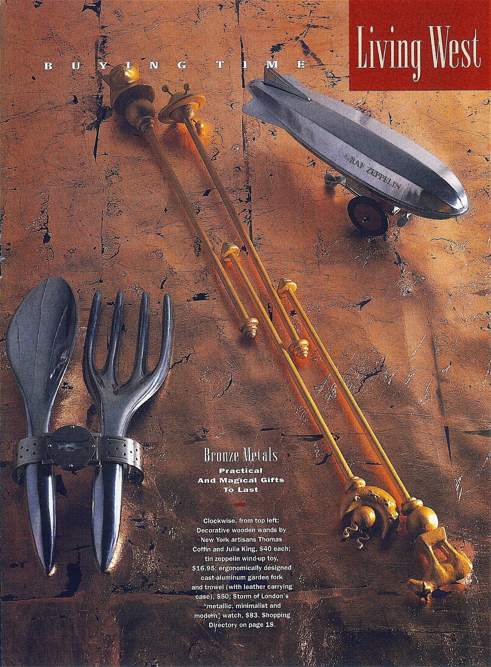 Coffin & King Press - Coffin & King Decorative Wands featured in Western Living Magazine - Vancouver, British Columbia