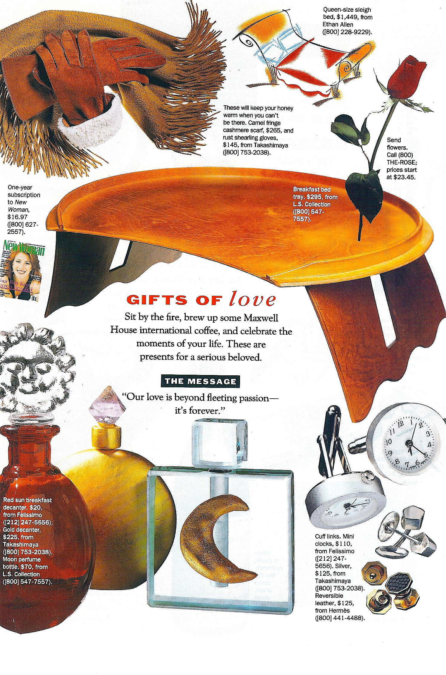 Coffin & King Press - Coffin & King Gilded Perfume Bottle with Crystal Finial featured in New Woman Magazine