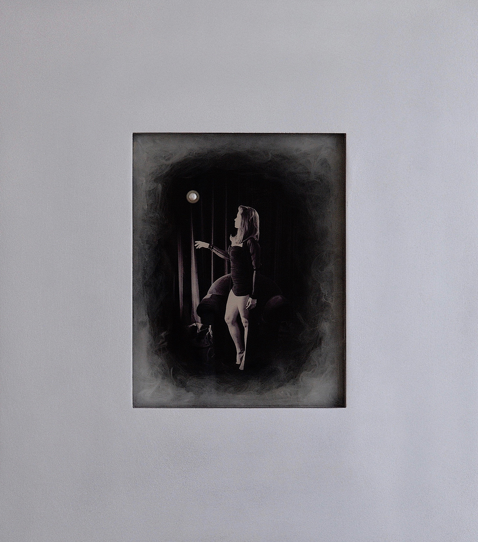 Julia King - Margarite and the Pearl #8 - with handmade matte silver wood frame