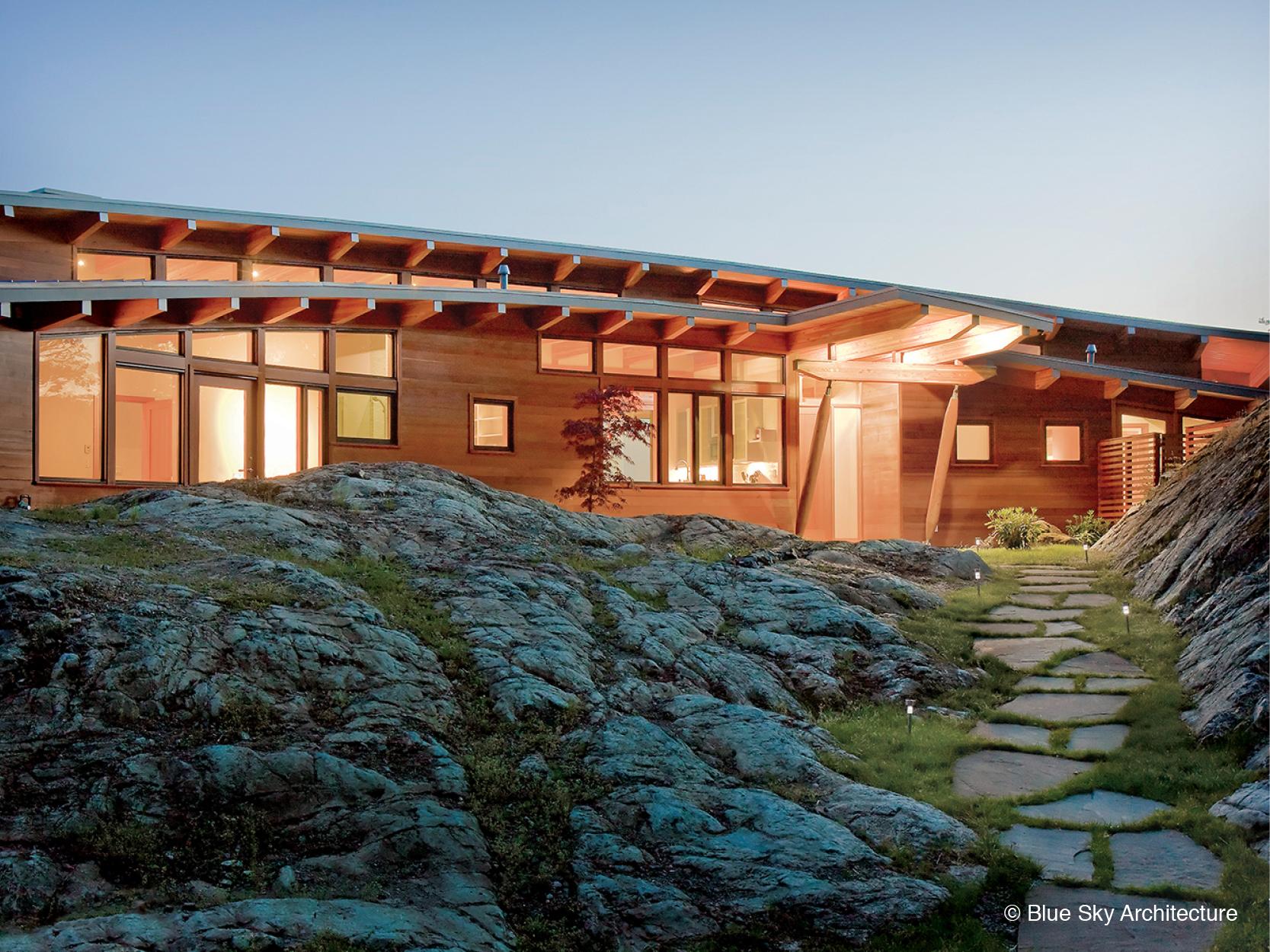 Off-grid home design exterior entryway