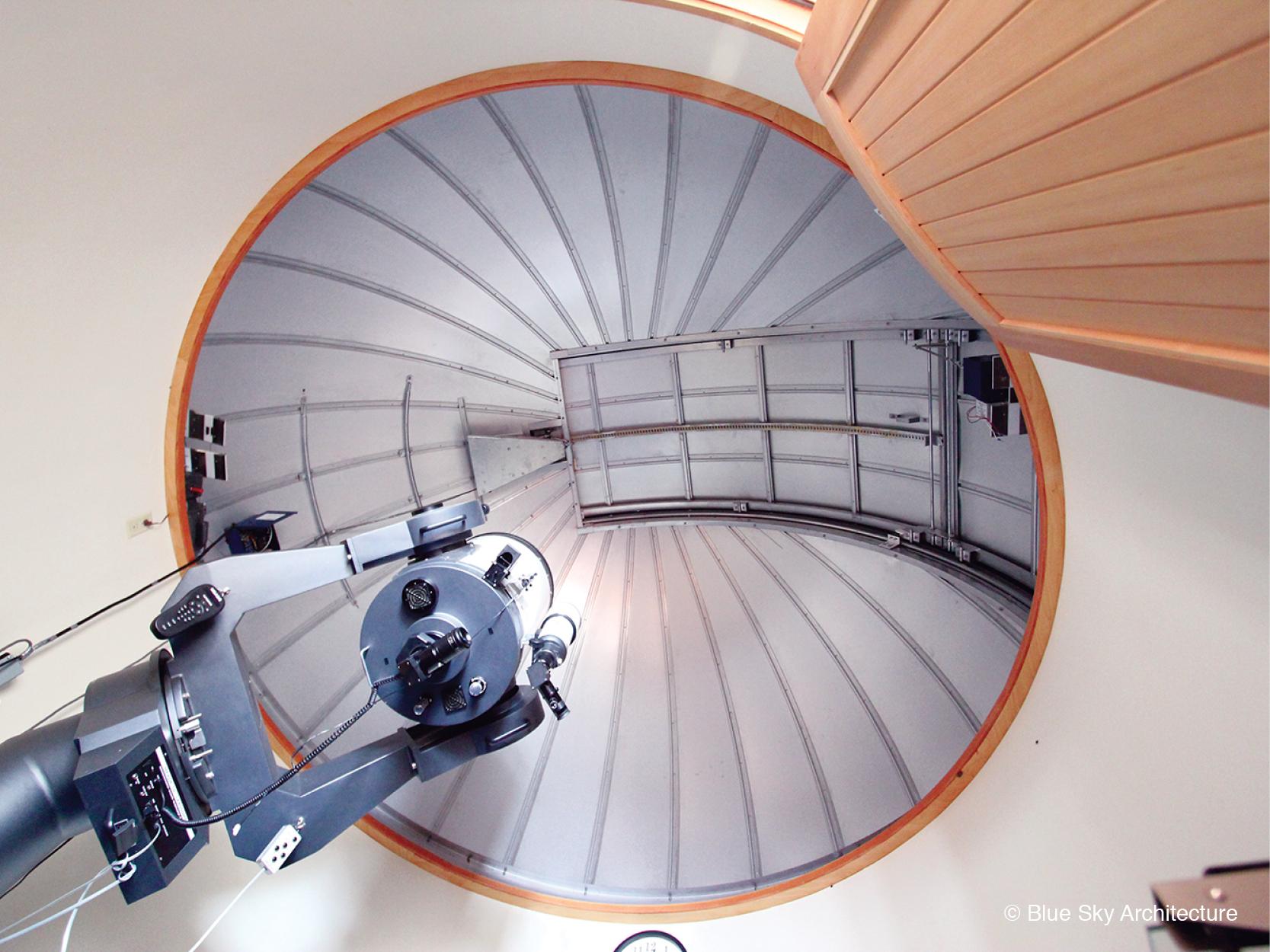 Observatory Telescope in Modern Residence