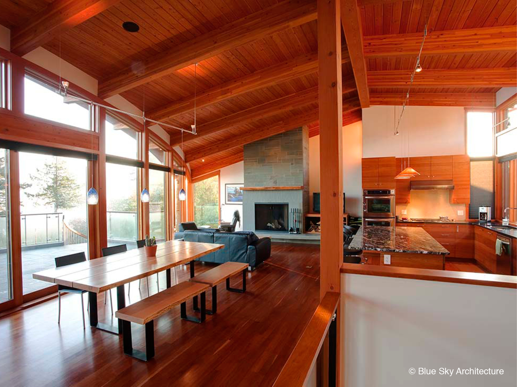 Dining Room with Natural Materials