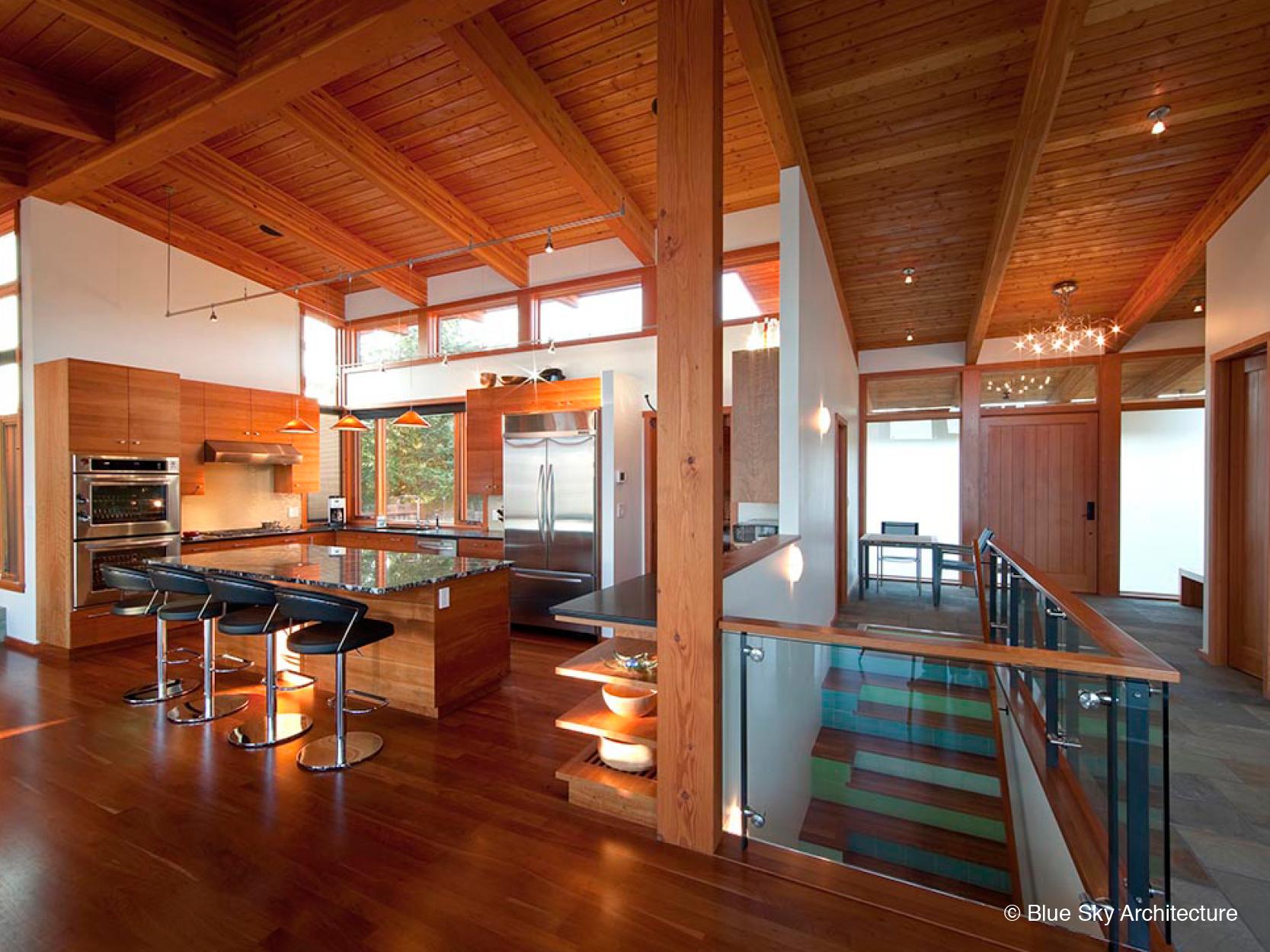 Heavy Timber Modern Kitchen Design