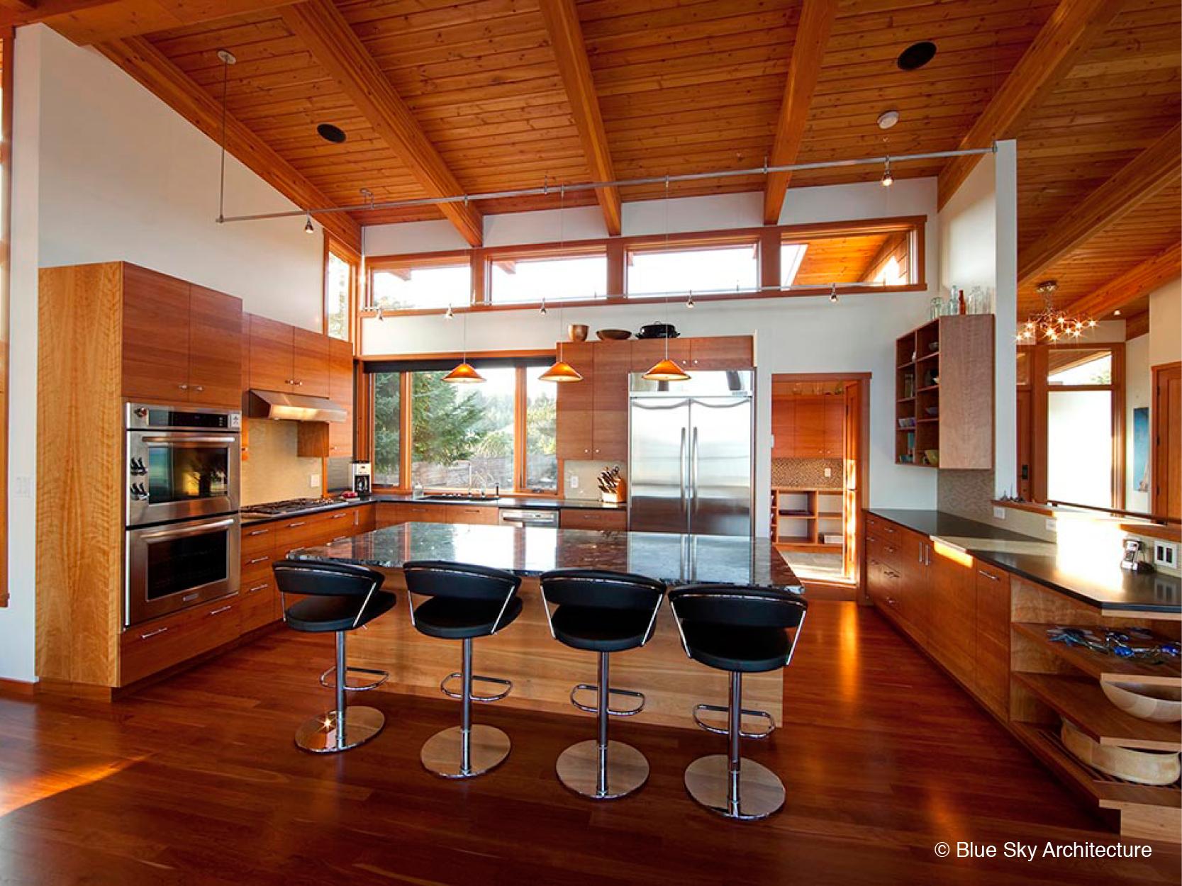 Post and Beam Modern Kitchen Design