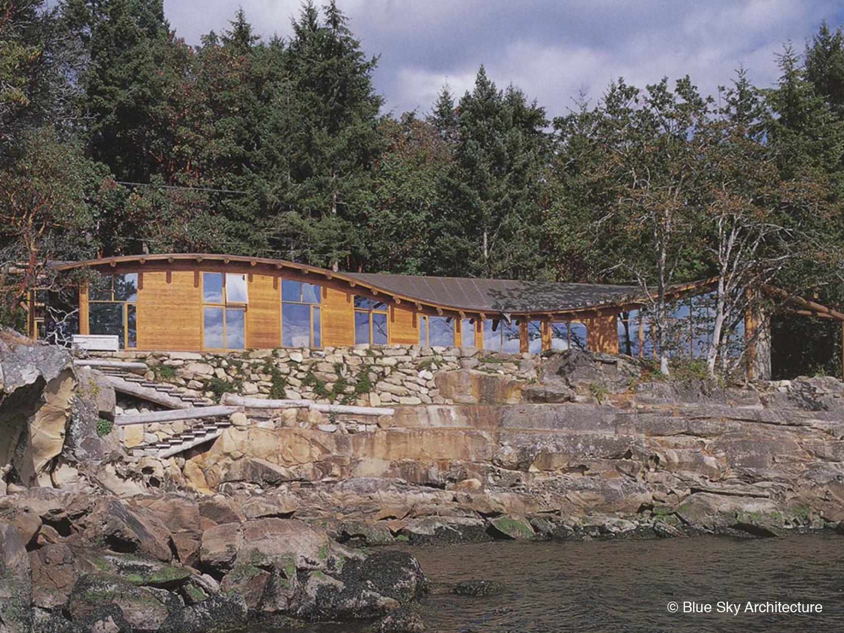 Beach View of Custom Organic Modern Residence