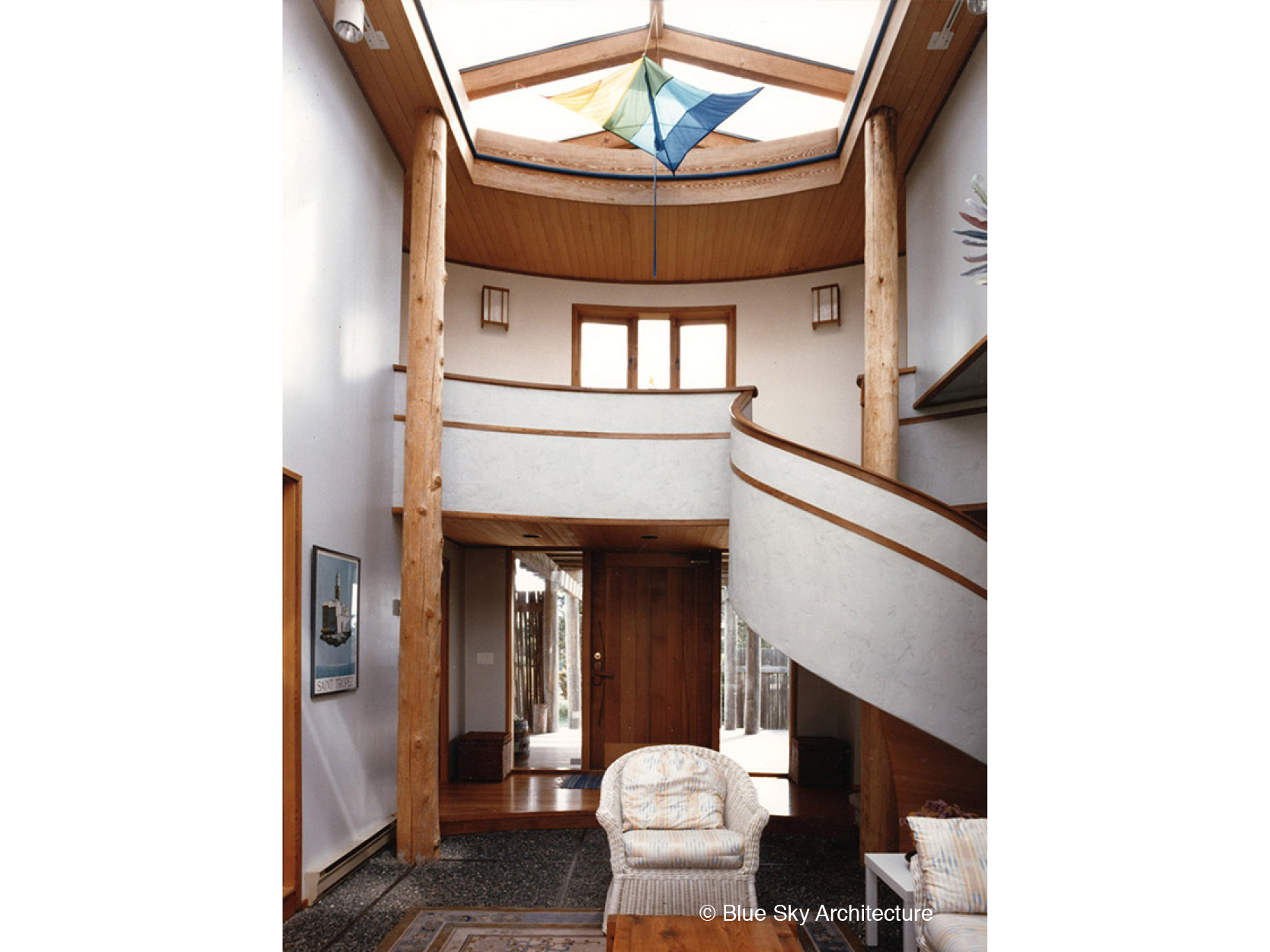 Curved Entry Stair and Skylight