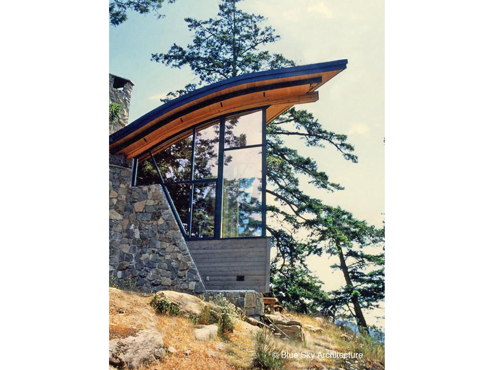 Heavy Timber Architecture with Organic Roofline