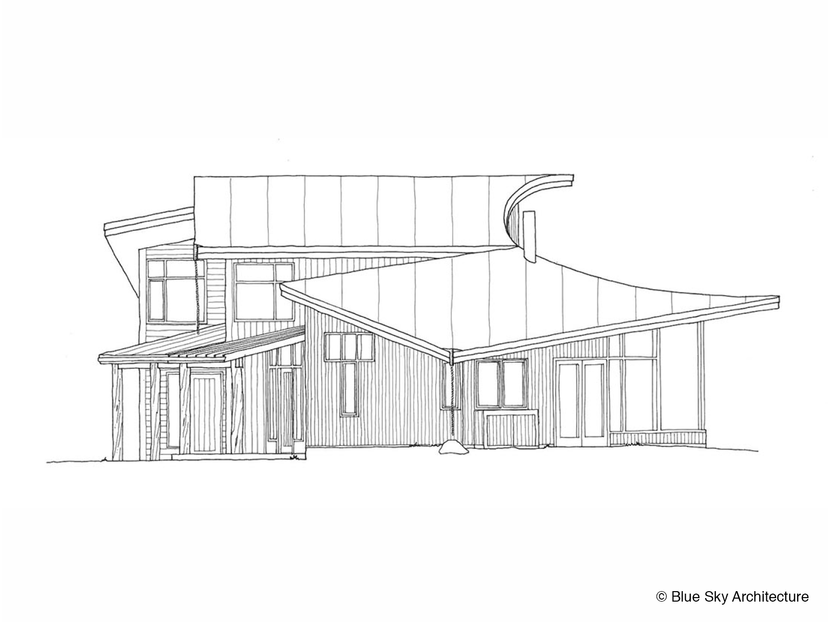 Thomson House Elevation Drawing