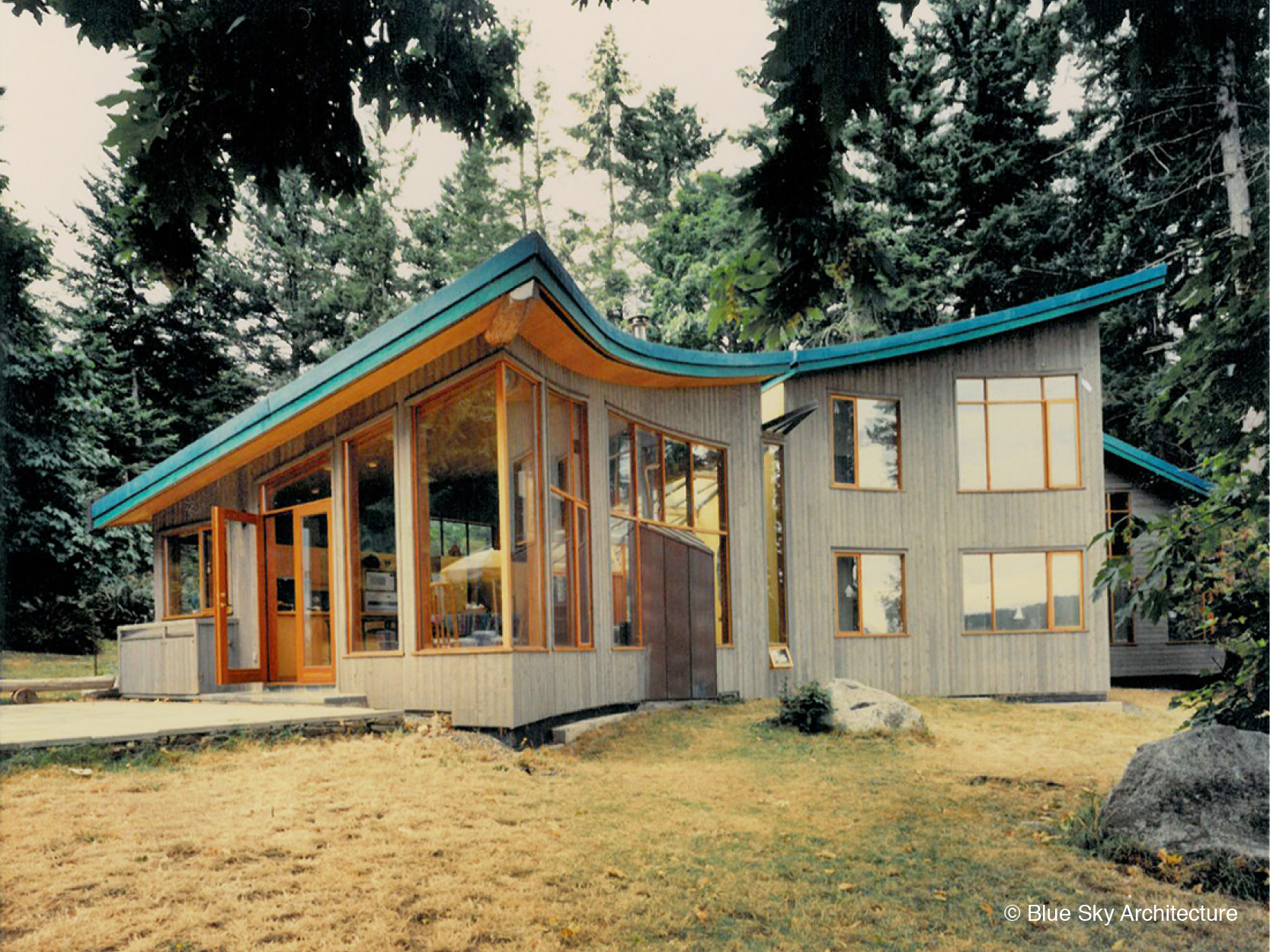 Organic Architecture with Heavy Timber Framing