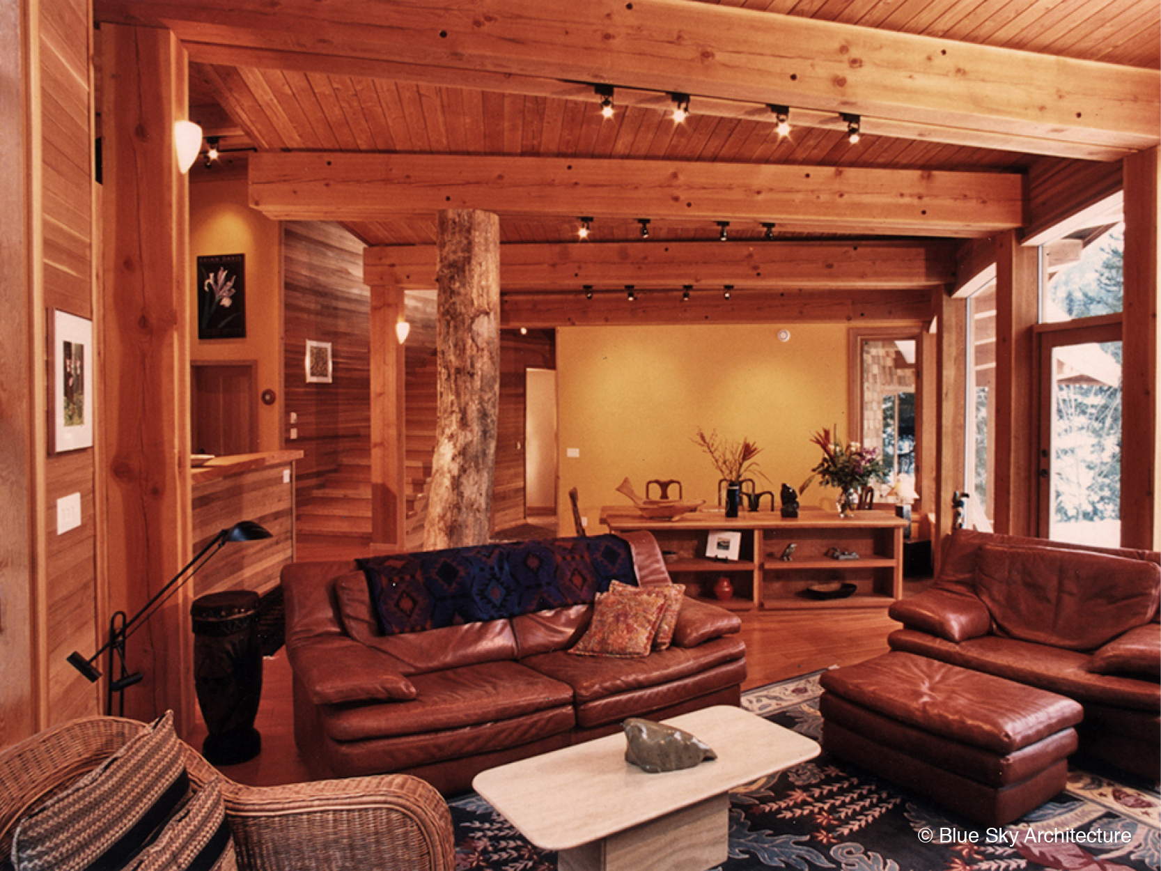 Custom Interior with Heavy Timber Design