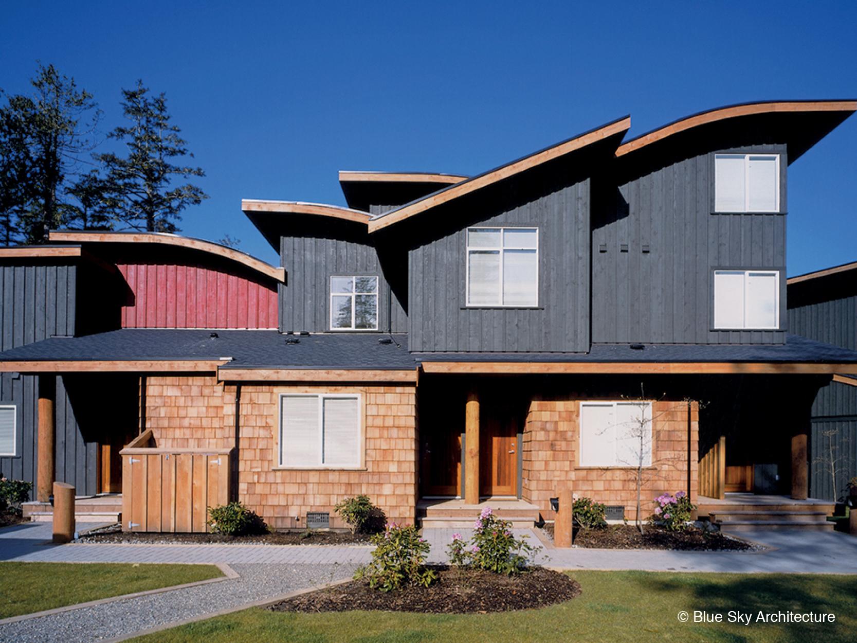 Multi Family Home with Cedar Cladding