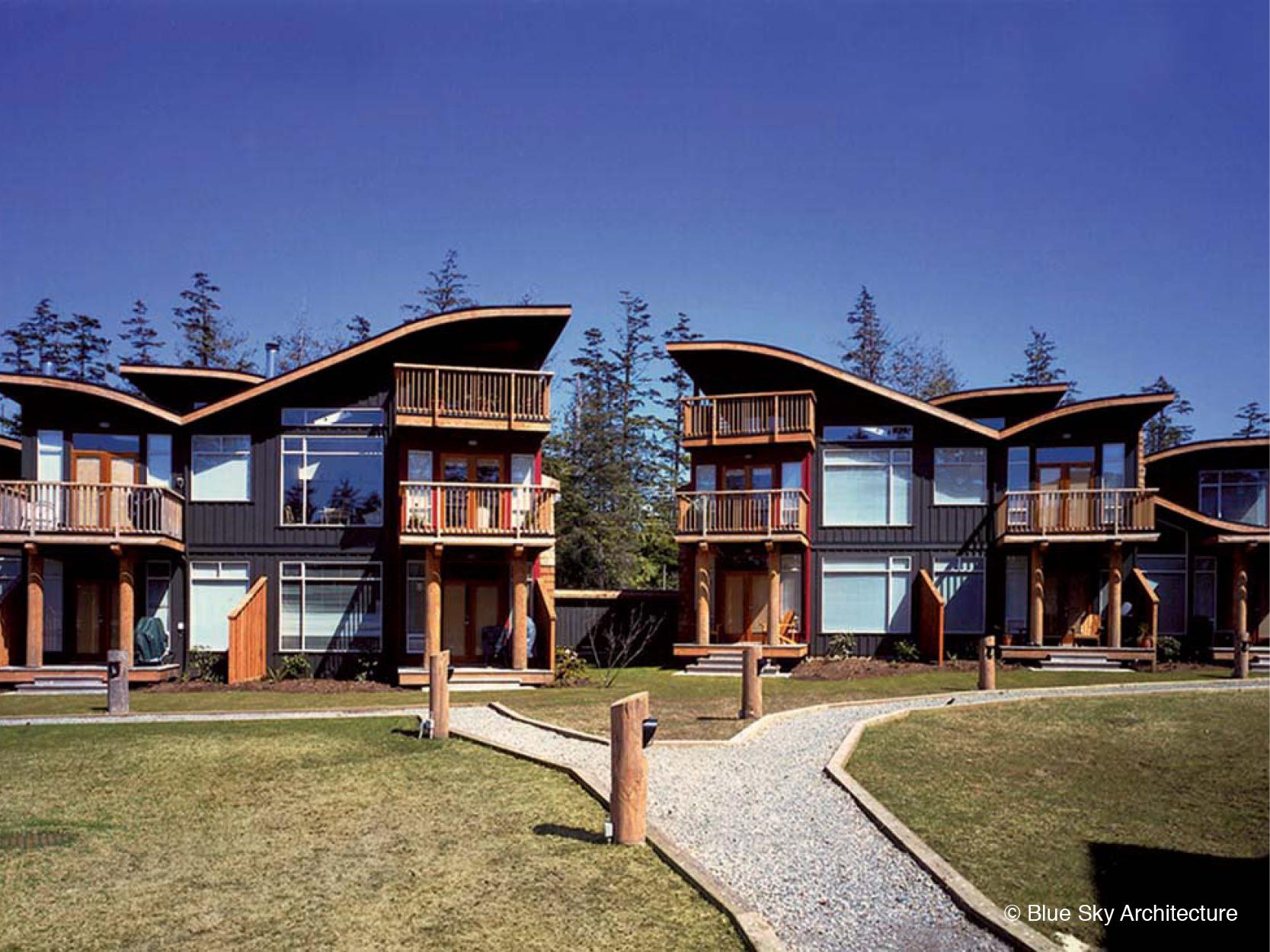Beach Home with Organic Roofline