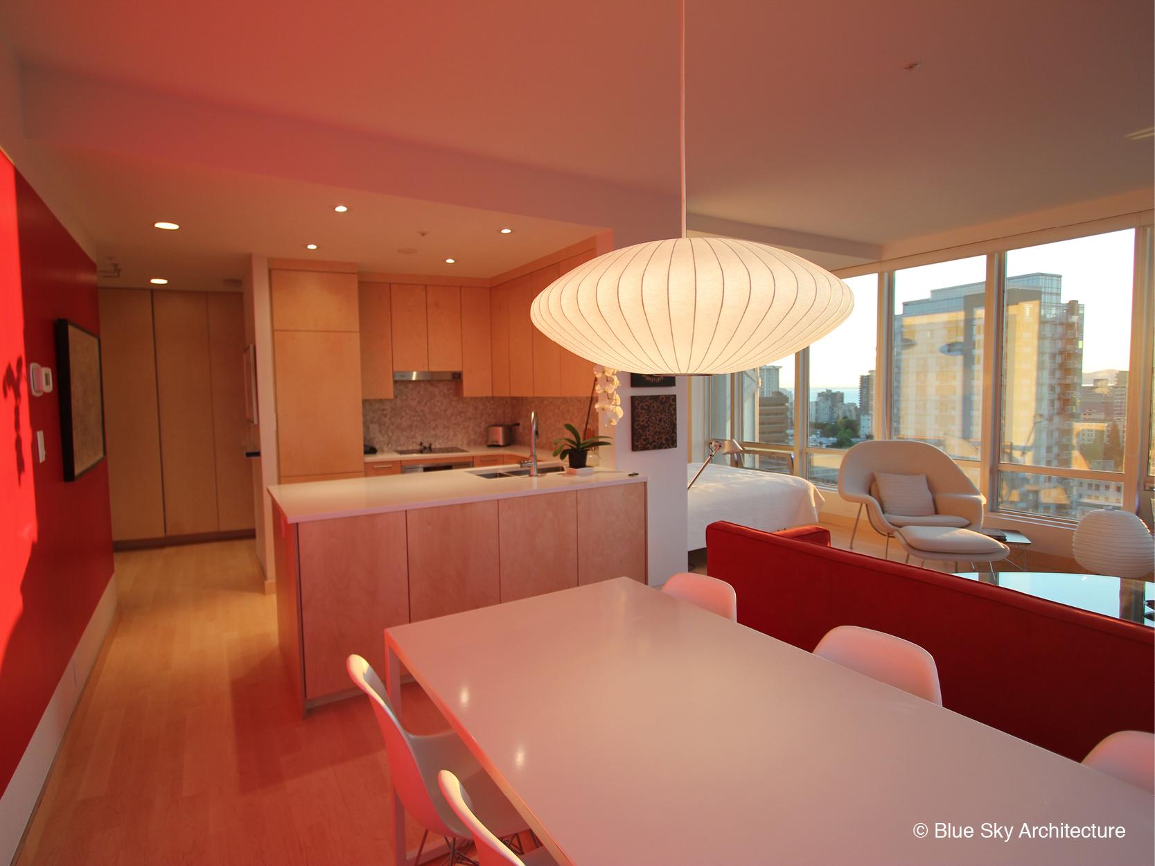 Birch plywood kitchen in Vancouver condo renovation