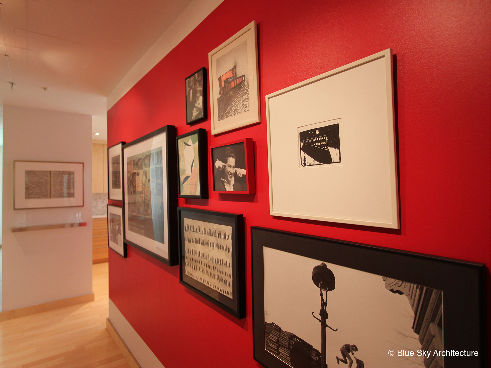 Gallery wall of renovated Vancouver condo