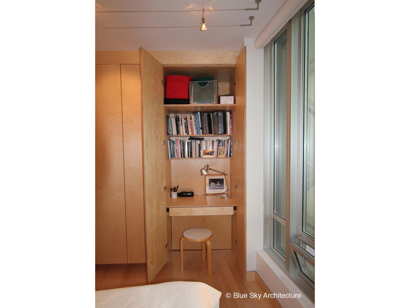 Vancouver condo with closet deskspace