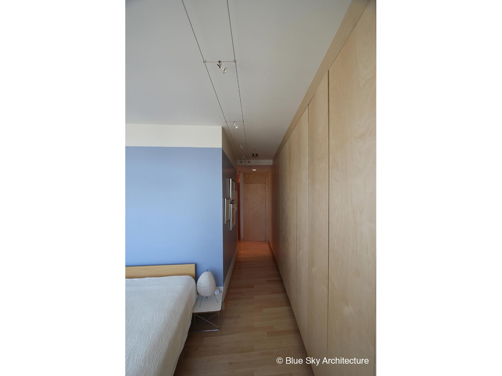 Vancouver condo small space living and storage corridor