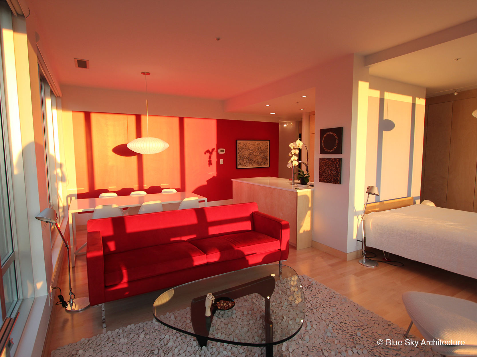 Vancouver studio condo with open concept bedroom